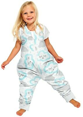Buy 1 Get 1 FREE summer sleeping bag with legs 12-24m 1.0 T CLOUDS - PEPPERMINT