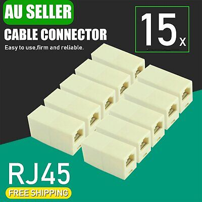 15x RJ45 CAT5e CAT6 Coupler Connector Joiner Extender Lan Ethernet Network Cable
