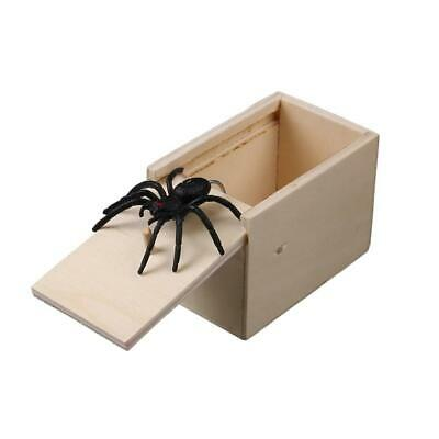Surprise Wood Prank Spider Scare Box Hidden in Case Trick Play Joke Gag Toy Gift