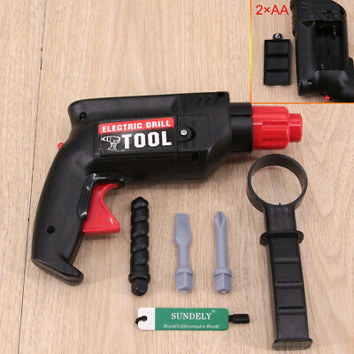 Childrens Boys Kids Role Play Builder Pretend Toy Simulation Drill Tool Set Red