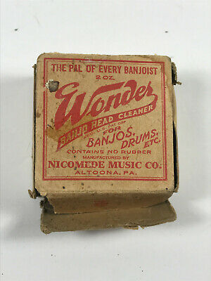 MEGA RARE 20's Nicomede Wonder banjo Head Cleaner altoona PA w/ Box