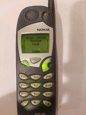 Nokia 5185i Verizon Vintage Cell Phone Working w/ Box Manual, Wall Charger, Case