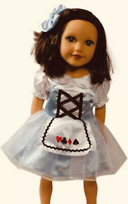 NIP Arianna Alice in Wonderland Outfit w/ Bow for 18 inch American Girl Doll NEW