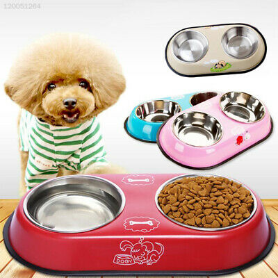 Puppy Dog Feeding Water Dish Pet Double-Head Bowl Food Feeder Cat Pets Accessory