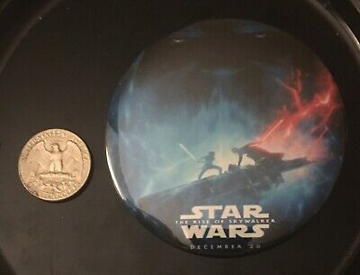 MegaRare New Star Wars The Rise of Skywalker Promo Pin Button Dec 20 Release Wow