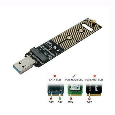 NVME M-key M.2 SSD External PCBA Adapter with Disk NEW Case 3.0 USB t U0D8