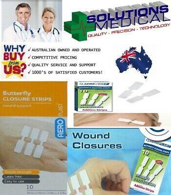 FIRST AID BUTTERFLY WOUND CLOSURES / DRESSINGS STRIPS 5 10 20 50 100 x STRIP QTY