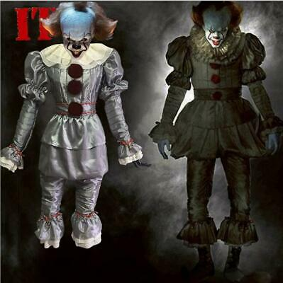 Large Mens Pennywise IT Movie Stephen King Clown Scary Costume Halloween Outfit