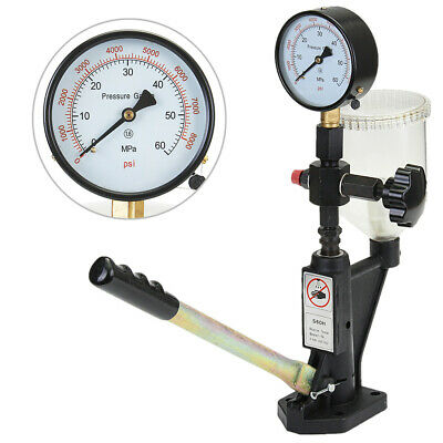 400Bar/6000PSI Diesel Fuel Injector Heavy Duty Nozzle Tester Pressure Testing
