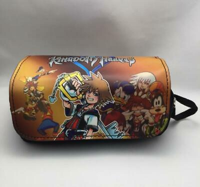 Game Kingdom Hearts Sora keyblade Pencil Case Pen Bag Make Up Pouch School Gift