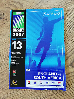 England v South Africa 2007 Rugby World Cup Programme