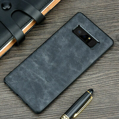 For Samsung Galaxy S10e S9 S8 Plus Note 10+ 9 Leather Slim Hard Back Case Cover