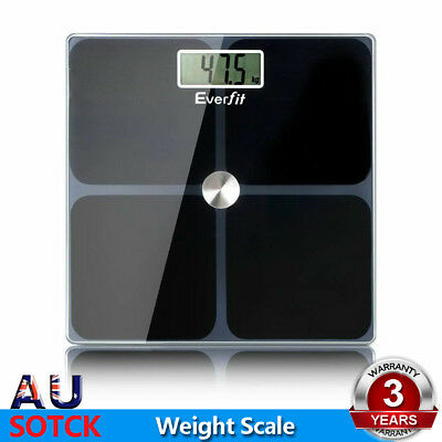 Everfit Electronic Digital Body Weighting Scale Bathroom Gym Weight Glass LCD