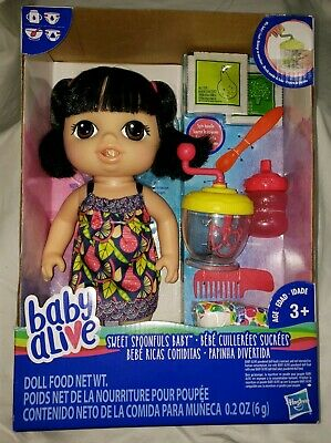 Baby Alive Sweet Spoonfuls Baby - Black Straight Hair Asian