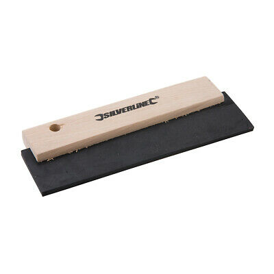 Rubber Squeegee 200mm Builder Tool Plaster Painter Decorator Horse Hair Grooming