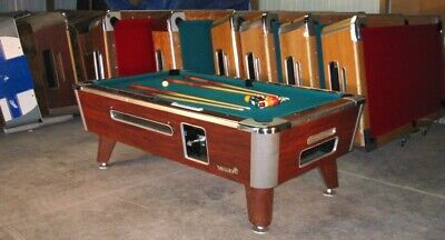 Valley Cougar Commercial 7' Coin-Op Bar Size Pool Table Model Zd-4 In Green