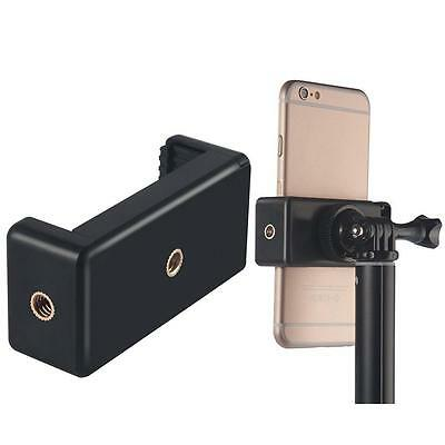 Universal Smartphone Tripod Adapter Cell Mobile Phone Holder Mount Adapter Black