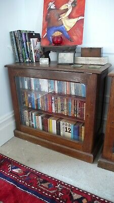 antique oak bookcase, Arts & Crafts period, glazed door - two available