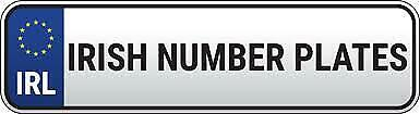 Irish  Ireland Number Plates Standard Size Two White Top Quality Free Delivery
