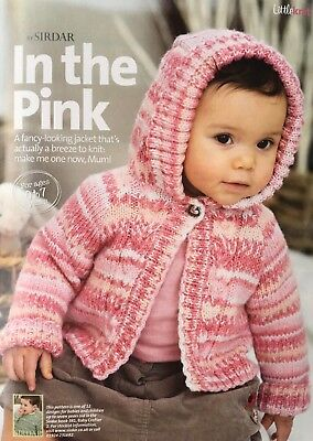 Baby Girls Boys CABLE hooded JACKET cardigan KNITTING PATTERN DK 16-26 in 9273