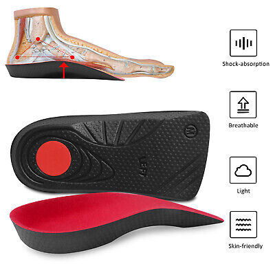 Arch Support Orthotic Shoe Insoles Inserts Plantar Fasciitis Flat Foot Feet Pads