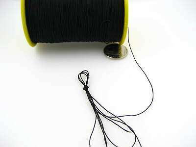 60ms 1mm black Round Elastic Stretchy Thread hat Beading jewellery craft elastic