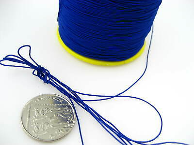 60ms 1mm blue Round Elastic Stretchy Thread hat Beading jewellery craft elastic