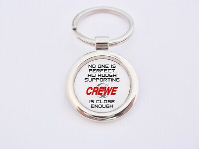 Almost Perfect Supporting Crewe Key Fob Bottle Opener Keyring Badge Gift