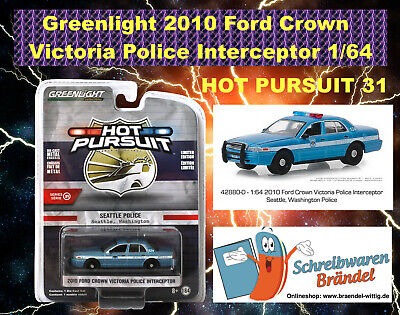 Greenlight Hollywood Hot Pursuit Serie 31 Ford Crown Victoria 2010 Police 1:64