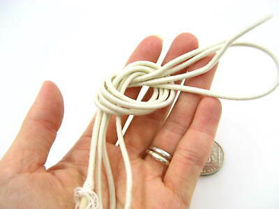 25ms 3mm white Round Elastic cord sewing accessories 3mm stretch bungee cord