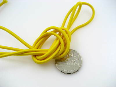 25ms 3mm yellow Round Elastic cord sewing accessories 3mm stretch bungee cord