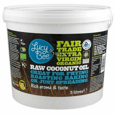 Lucy Bee Extra Virgin Raw Organic Coconut Oil - 5 Litre