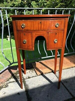 Antique Sheraton Satinwood And Rosewood Inlaid Side Chest 19 Inches Wide