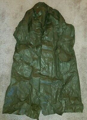Post WWII WW2 US ARMY 1954 Dated Raincoat - Used & Very Rough Shape