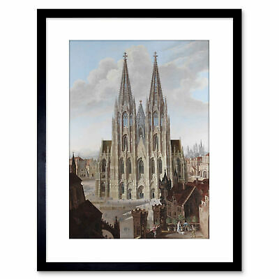 Painting Cologne Enslen After Boisseree Cathedral Framed Print 9x7 Inch