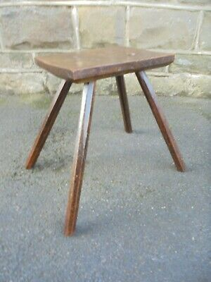 Antique Primitive Elm Stool