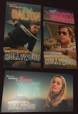 2 sets- ONCE UPON A TIME IN HOLLYWOOD 3 Odeon Promo Cards - Tarantino's 9th Film