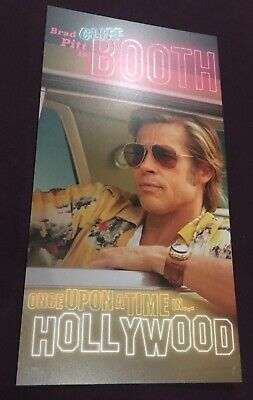 ONCE UPON A TIME IN HOLLYWOOD Brad Pitt Odeon Promo Card - Tarantino's 9th Film