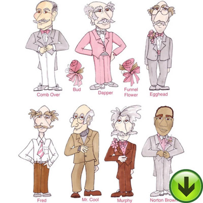 Senior Prom Gents Embroidery Design Collection | Download