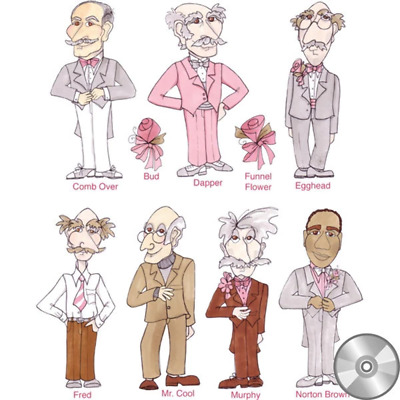 Senior Prom Gents Embroidery Design Collection | CD