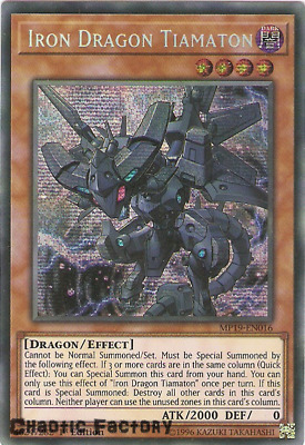 Yugioh MP19-EN016 Iron Dragon Tiamaton Prismatic Secret Rare 1st Edition NM