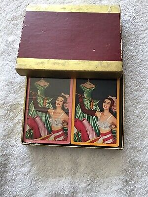 Maidenform Double Deck Playing Poker Cards 1 Sealed 1 Open Complete Girlie