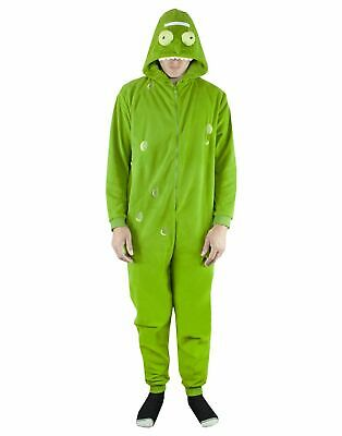 Rick and Morty Pickle Rick Green Pyjamas Men's/Women's Hooded Sleep Suit