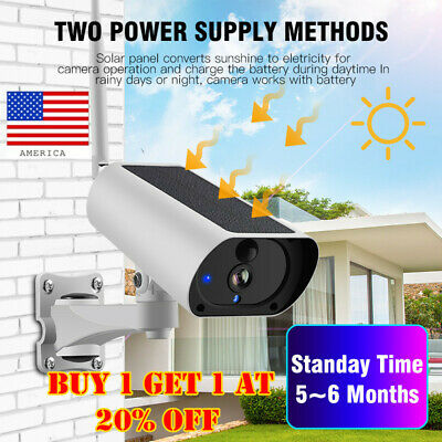 Solar Power IP Camera Wireless Wifi Surveillance Camera Night  Visions new 2019