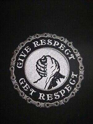 Give Respect, Get Respect 4 inch circle motorcycle vest patches.