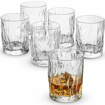 Double Old Fashioned Whiskey Glass 11.¾ Ounce (6 Pack) Italian Cocktail Glasses