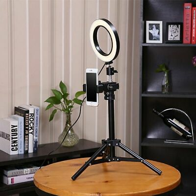 Photo Studio LED Ring Light 5500K 50cm Height Photography Lamp Dimmable Makeup