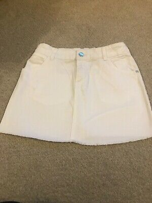 M&S Kids White Cotton Skirt Age 11-12 Length 13 Inches