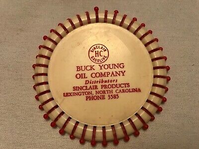 Buck Young Oil Co. Vintage Celluloid Grocery List, Lexington, North Carolina
