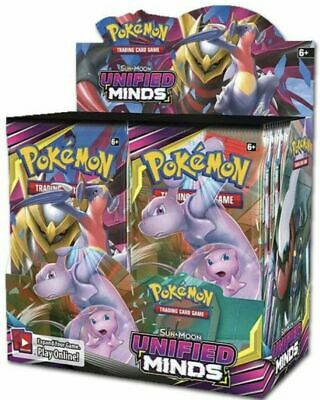 Pokemon TCG: Sun & Moon Unified Minds Booster Box Sealed - Plus EXTRA CODE CARDS